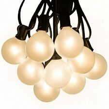 G50 White Pearl Outdoor Globe Patio String Lights (25', 50' and 100' Lengths)