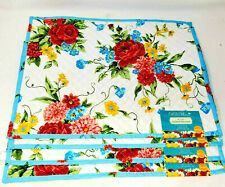 """New listing Pioneer Woman """"Sweet Rose"""" 14'x19"""" Placemats Set of 4 Quilted Reversible New!"""