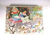 Mrs. Holle Jig saw Brothers Grimm Fairy tale Wooden vintage Puzzle