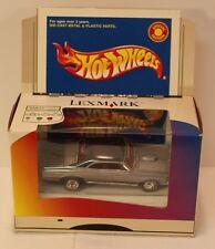 LEXMARK Promo Hot Wheels Pontiac GTO Grey/Silver/Black 1967 67 (Real Rider)