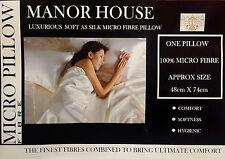 Micro fibre oreillers pack de 2 super doux comme de la soie luxe intérieur de remplissage blanc pad