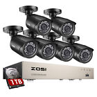 ZOSI 8 Channel 5MP Lite DVR 1080p Outdoor Security Camera System with 1TB HDD