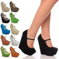 Zapatos de tacón de mujer de tacón alto (más que 7,5 cm) de color principal azul Talla 36