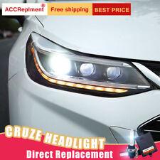 2Pcs For Chevrolet Cruze Headlights assembly Bi-xenon Lens Projector LED DRL
