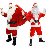 ADULTS DELUXE SANTA CLAUS COSTUME CHOICE FATHER CHRISTMAS XMAS FANCY DRESS