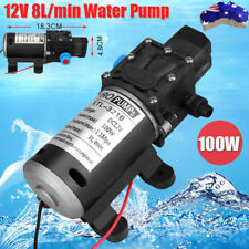 High Pressure Self Priming Water Pump 12V 100W 8Lpm Caravan Camping Boat AU SHIP