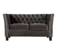 Chesterfield Modern Contemporary 2 Seater Velvet Sofa Mink Or Grey FAST DELIVERY