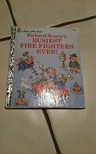 Little Golden Book: Busiest Firefighters Ever! by Richard Scarry (1993, Hardcov…