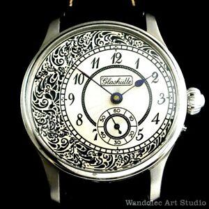 Vintage Men's Wrist Watch Titanium Mens Wristwatch Germany Glashutte Movement
