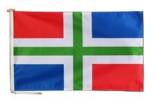 Groningen Pays-Bas Drapeau 3'x2' (90cm x 60cm) Avec Corde & Bouton - Un