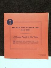 RARE 1964 NEW YORK WORLD'S FAIR  DESCRIPTIVE PAMPHLET FOR BLIND VISITORS