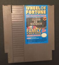 Wheel Of Fortune Family Edition (Nintendo, 1990) NES GAME ! Free shipping !