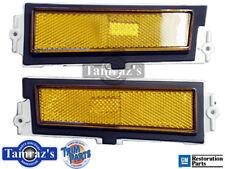 81-88 Monte Carlo Front Side Marker Lamp Light Lens Assemblies  PAIR USA MADE