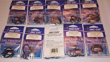 lot 50 EAGLE CLAW LAZER SHARP BLACK SALTWATER live bait fish HOOKS 6/0  317MGA