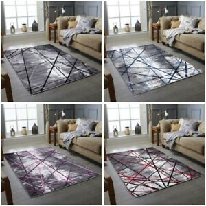MODERN DESIGN AREA RUGS SOFT QUALITY FLOOR CARPETS MAT SMALL LARGE SIZE