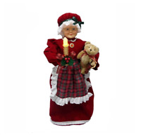 "24"" Animated Red Mrs. Claus with LED Lighted Candle Christmas"