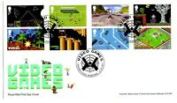 2020 GB VIDEO GAMES First Day Cover Stamps -Mini Sheet FDC 21/11/2019 Lara Croft