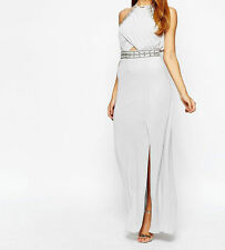 TFNC Embellished Trim Maxi Dress With Wrap UK8/EU36.US4   zz4
