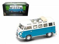 1962 Volkswagen Microbus Van Bus Blue With Open Roof 1/43 Diecast Car by Road...
