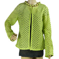 CHICOS Lime Green Blazer Size 1