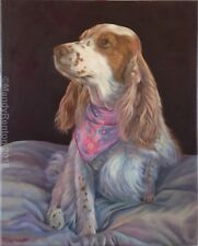 Cocker spaniel fine art greeting card of oil painting - direct from artist