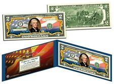 United States of America Flag Legal Tender $2 Bill Colorized - New USA Design