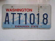 plaque immatriculation  usa washington license plate old americaine 1018
