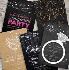 Premium Personalised Engagement Party Invitations Invites with Envelopes (G1)