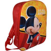 MICKEY MICKEY MOUSE mochila para asilo amarillo rojo con frontal 3D para niño