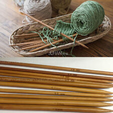 4pcs 6.0mm Bamboo Carbonized Double Pointed Weave Knitting Needles Hot