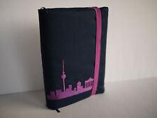 Kalender 2018 Taschenkalender, Agenda, Planer mit Buchhülle Stoff BERLIN Skyline
