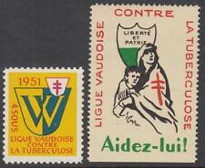 Switzerland Vaud Anti-TB Charity Seals Cinderellas 2 MNH stamps
