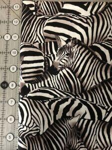 Born Free Zebra 100/% Cotton Fabric #507