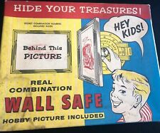 Vintage Suburban Toy Picture Wall Safe w/ Box Toy
