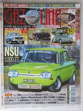 GAZOLINE N° 109 /GUIDE D'ACHAT R12 GORDINI/VELOREX/4 CV/NSU 1000 TT