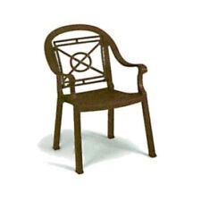 Grosfillex 46214037 Victoria Bronze Mist Armchair (1 dozen)