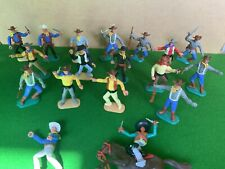 Vintage Timpo Wild West Cowboys Plastic Toy Soldiers Job Lot 1970's 1/32 Scale