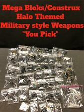 "Mega Bloks Halo Themed Military Weapons Mega Construx ""You Pick/Choose"""