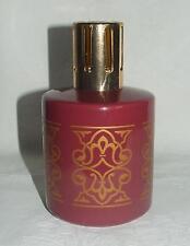 Lampe BERGER Porcelaine décor bordeaux avec dorure / Complète