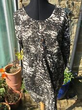 Masai Clothing cotton dress in camouflage pattern 3/4 length sleeves short tunic