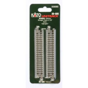 "Kato 20-020 - 124mm (4 7/8"") Straight Track [4 pcs] - N Scale"