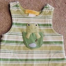 DARLING! GYMBOREE PREEMIE GREEN STRIPED FROG OVERALLS REBORN