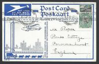 South Africa 1936 Empire Exhibition postcard used with 2 labels