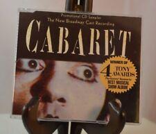 CABARET: THE NEW BROADWAY CAST RECORDING RARE PROMO CD (CD, 1998, RCA) FREE SHIP
