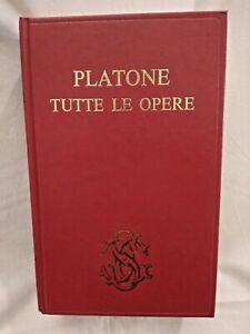 PLATONE TUTTE LE OPERE 1983 Sansoni editore libro di filosofia usato tradotte