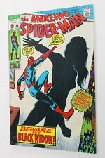 AMAZING SPIDER-MAN # 86 - 1970 - NEW COSTUME for BLACK WIDOW - MARVEL MOVIES