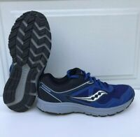 MENS SAUCONY GRID COHESION 10 BLUE GRAY BLACK Walking RUNNING SHOES SIZE 9M