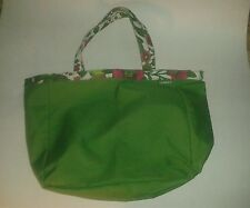 "Clinique Green & Floral Tote Bag - 15"" x 9"""