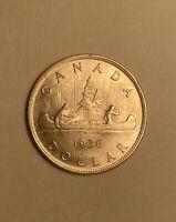 1936 Canada Beautiful High Grade Silver Dollar ID#MS13