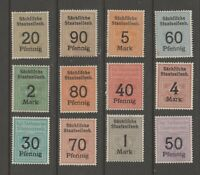 Germany Train Revenue Fiscal Cinderella stamps 4-24